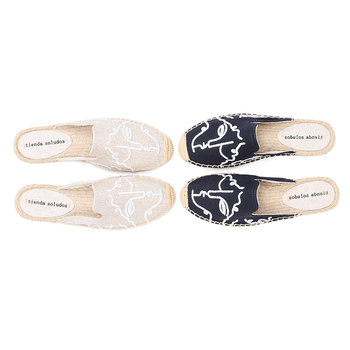 Tienda Soludos Espadrilles Slippers For For Flat 2019 Real Special Offer Hemp Summer Rubber Print Woman Shoes Mules Pantufa  2