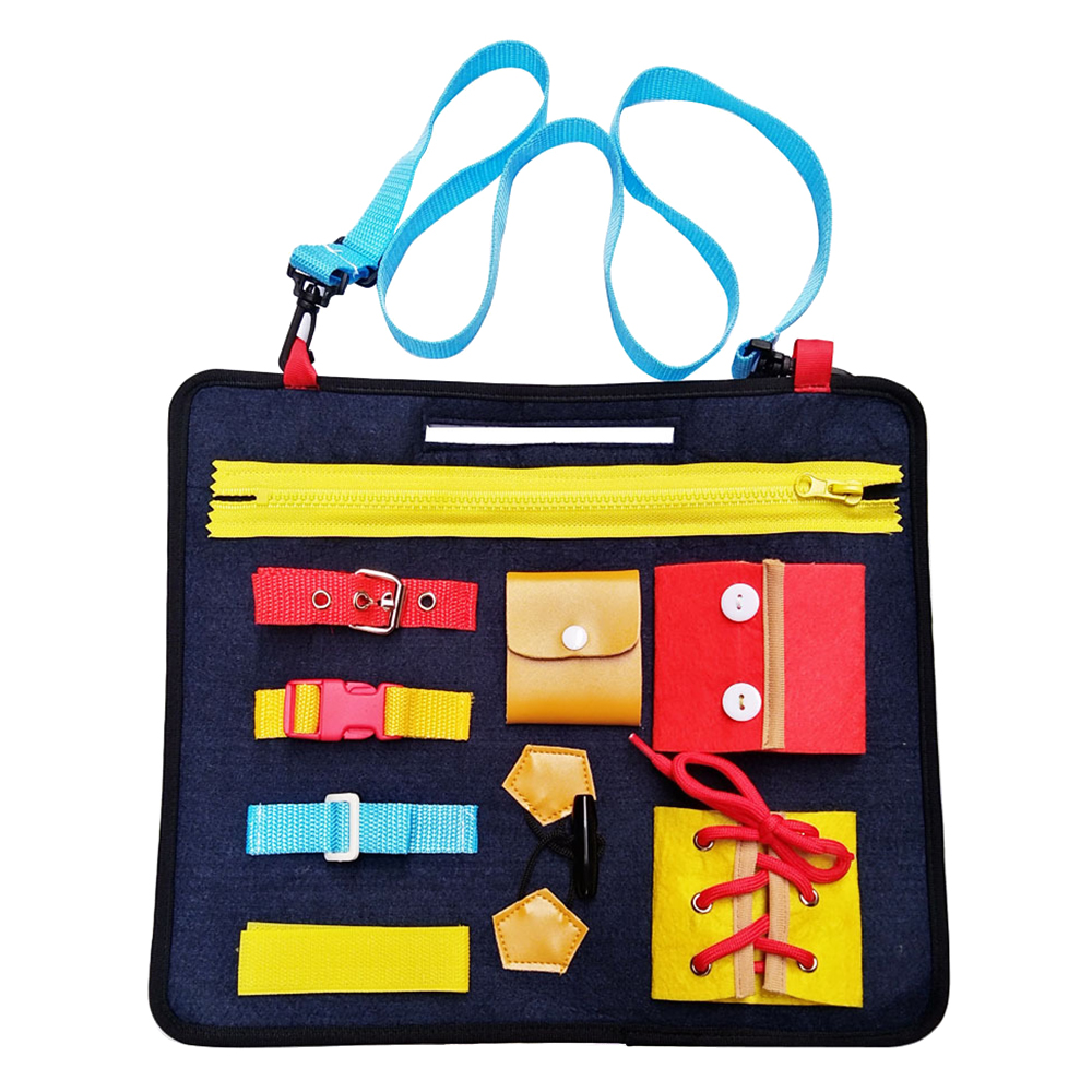 Wardrobe Teaching Baby Puzzle Basic Skills Toddler Activity Board Toys For Fine Motor Skills To Dress Early Educational Learning
