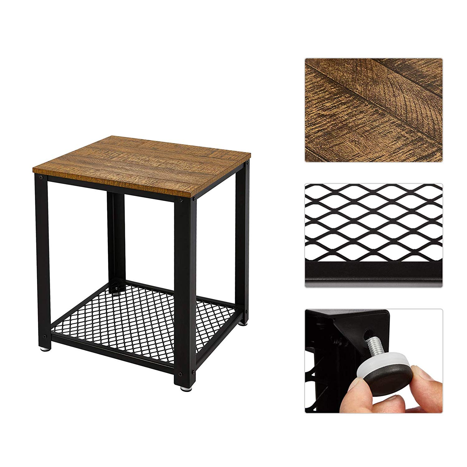 End Of Sofa Coffee Table Bedside Table Living Room Table Vintage Style Industrial Wooden Iron Metal Coffee Tables Home Furniture Coffee Tables Aliexpress