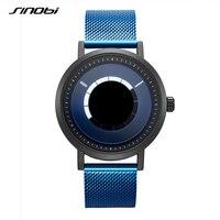 Креативные мужские часы со стальным ремешком