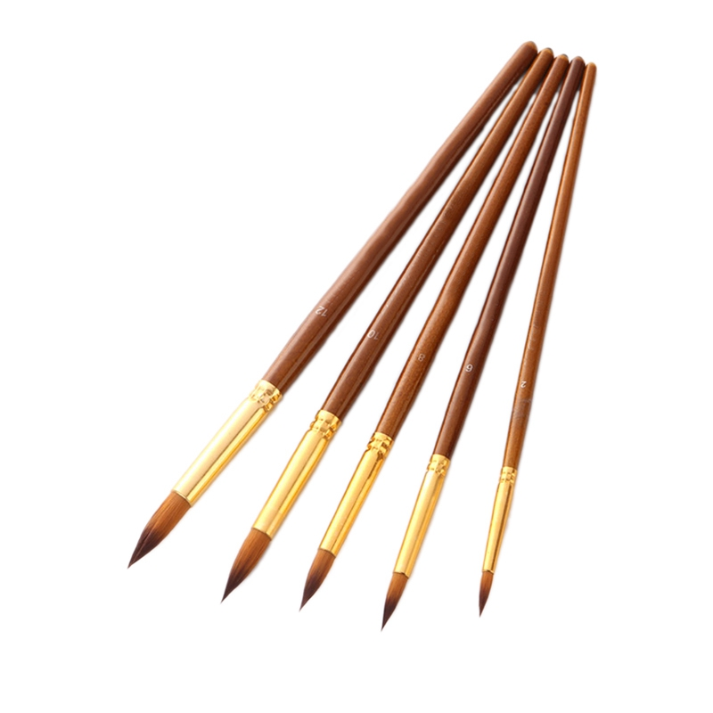 Nylon Hair Oil Paint Brush Pen Set Wooden Handle Watercolor Acrylic Painting Art Brushes For Artists Painters Beginners
