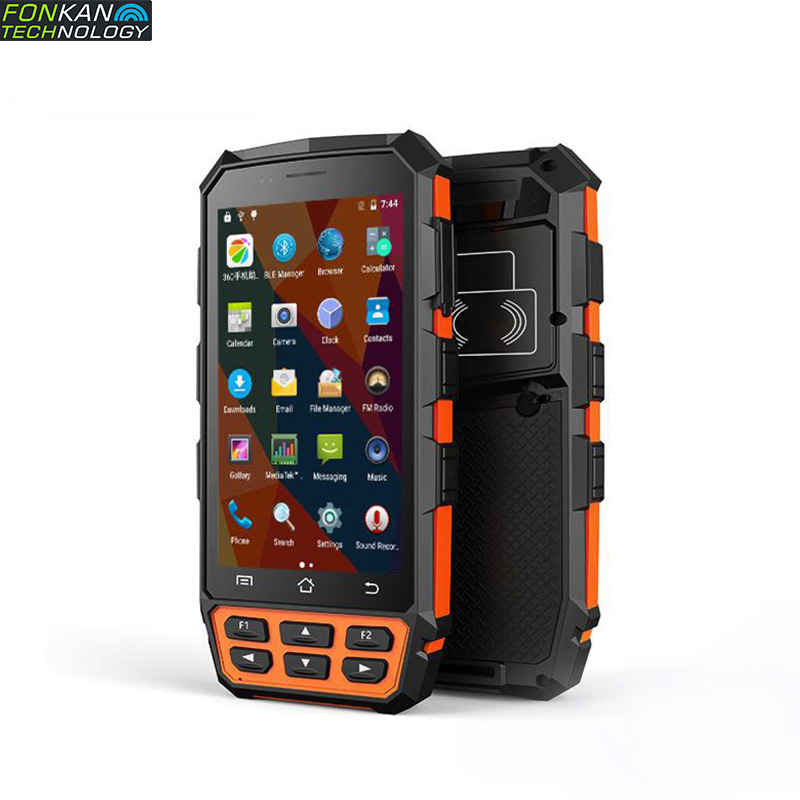 FONKAN Android 7.0 Bluetooth WIFI 3G 4G  RFID UHF Smart PDA Handheld Reader Industrial Portable Display 5 Inch IPS  2-3M