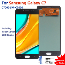 For Samsung Galaxy C7 Amoled LCD Display Touch Screen Digitizer Assembly Replacement For Samsung C7000