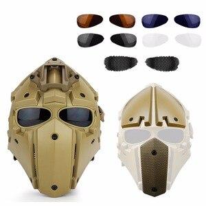Image 3 - Тактический военный шлем из игры CS, шлем для страйкбола, охоты, пейнтбола, тактический шлем с полной защитой и маской для лица