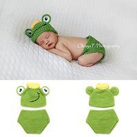 Newborn Clothes Girl Boy Crochet Knit Costume Photography Prop Outfits Baby Cap K92D