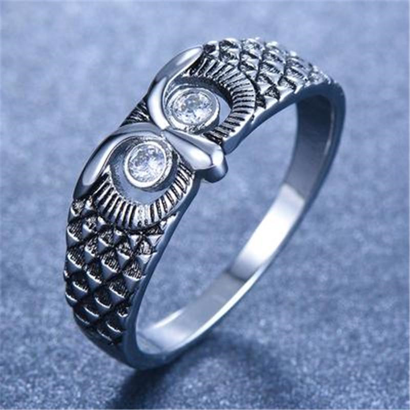 Кольца в форме Совы из цинкового сплава в вечерние ле ретро