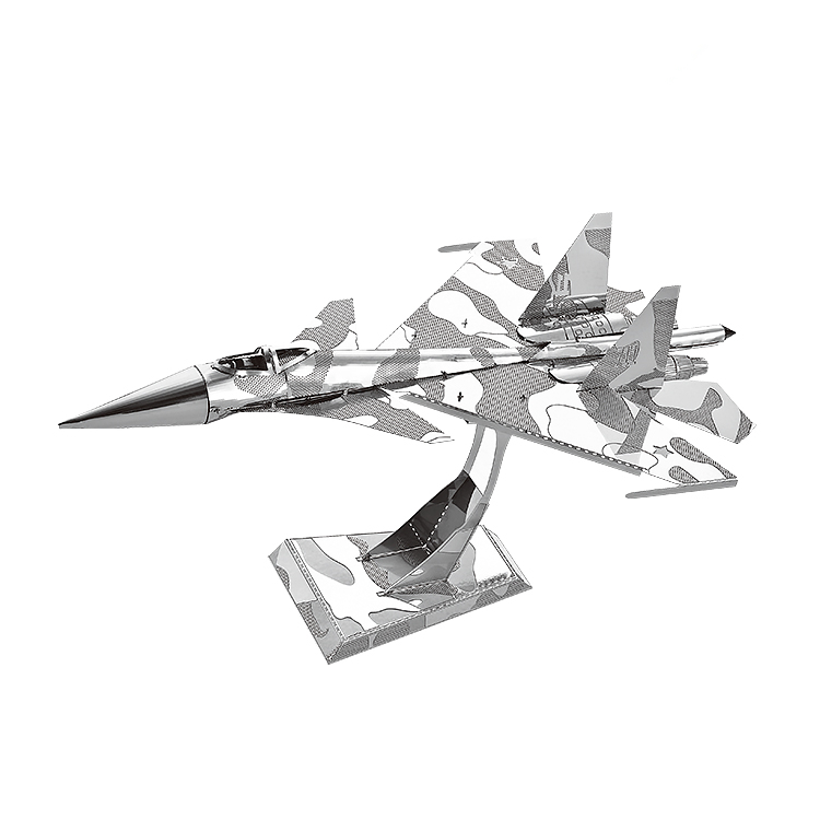 MMZ MODEL NANYUAN 3D Metal Puzzle SU-34 Fighter Assembly Model DIY 3D Laser Cut Model Puzzle Toys Gift For Adult