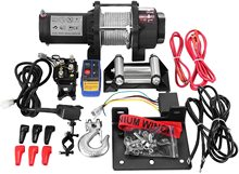 Winch 12V Winch Recovery Kit With Wireless Remote Control (1360kg) 12500LBS Electric Winch Electric Recovery