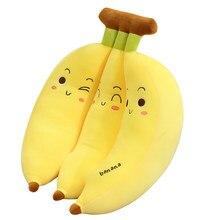 Banane en peluche pour enfants, nouveau jouet créatif en peluche, oreiller mignon en Fruit, doux, de canapé, poupées mignonnes pour enfants, cadeau d'anniversaire