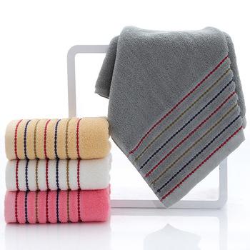 Pasiasty zestaw ręczników bawełnianych duży gruby ręcznik kąpielowy łazienka twarz ręczniki pod prysznic domowy hotel dla dorosłych dzieci miękkie toalla de ducha tanie i dobre opinie Zwykły Tkane rectangle 100g 400g bath-043 Sprężone Quick-dry Można prać w pralce 5 s-10 s Paski 100 bawełna Przędzy barwionej