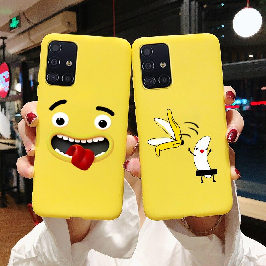 Case For Samsung Galaxy S20 Ultra Plus S 20 A71 A51 Note 10 S10 Lite A 71 51 Case Cute Silicone Soft TPU Phone Back Cover Case