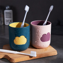 Couple Toothbrush Cup Cartoon Cloud Mouthwash Cup Milk Juice Lemon Mug Coffee Tea Reusable Plastic Cup vson cloud cup smart coffee mug water drink reminder