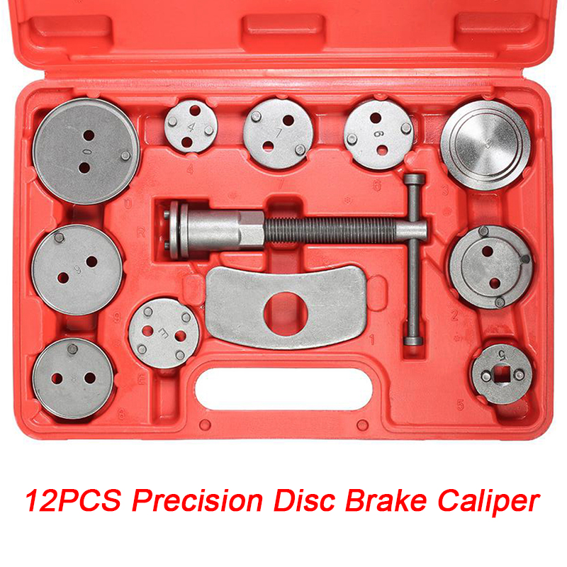 12pcs Universal Car Auto Precision Disc Brake Caliper Wind Back Tool Kit Brake Pad Brake Pump Brake