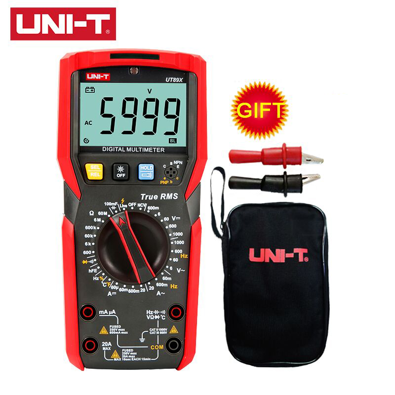 UNI T UT89X Digital Multimeter Tester True RMS AC DC Voltmeter Ammeter Capacitance Frequency Resistance Tester|Multimeters| |  - title=