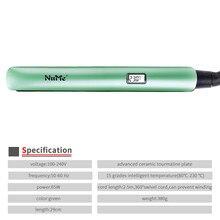 2 in 1 Professional LCD Display Hair Straightener Ceramic Fl