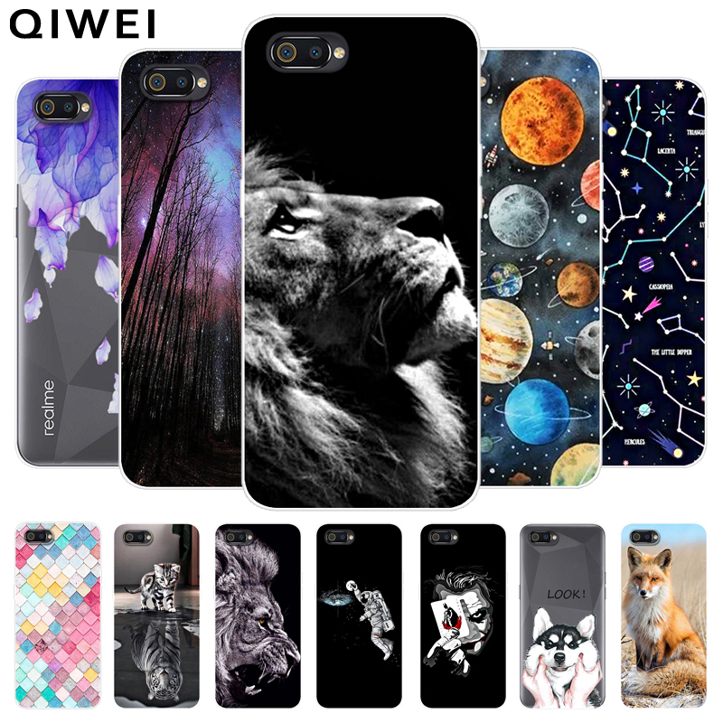 Realme C2 Case For OPPO Realme C2 Cover Cute Painted Soft TPU Silicone Back Cases For OPPO Realme C2 C 2 Phone Cover Coque Funda