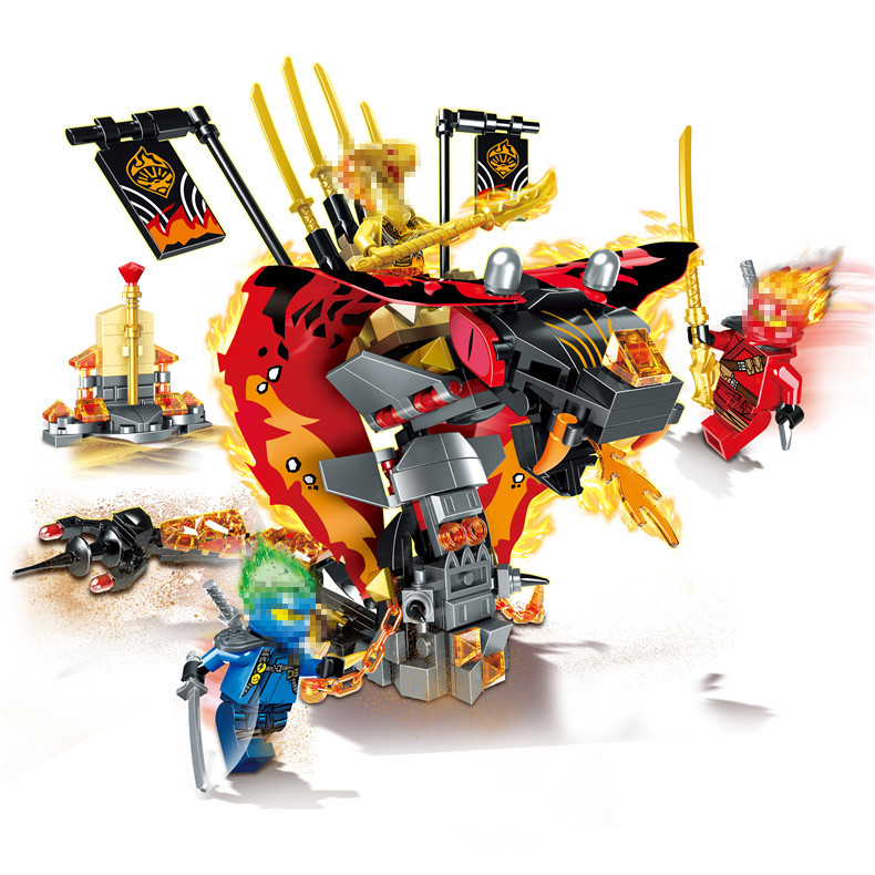 2019 NEW Ninja The Cobra like Fire Fang Snake Building Blocks Bricks Model Kids City Classic Compatible Marvel Toys in Blocks from Toys Hobbies