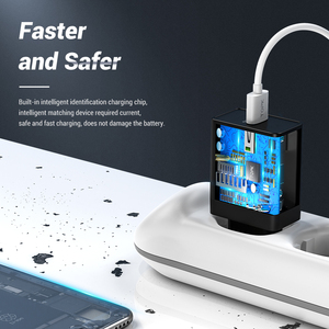 Image 3 - TOPK cargador rápido de teléfono móvil, adaptador de carga USB de pared con enchufe europeo para iPhone, Samsung y Xiaomi, 18W, 3,0