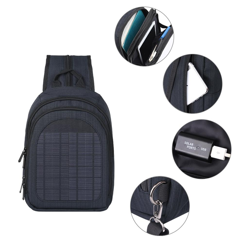 Solar Panel Men Backpack Powered Backpack Usb Charging Anti-Theft Laptop Travel