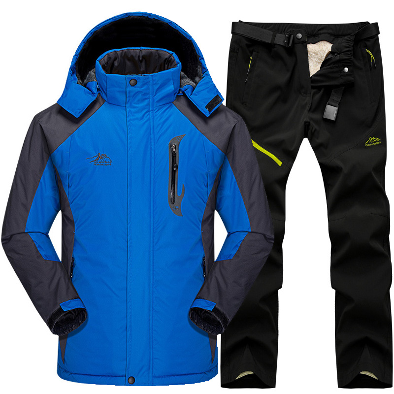 Ski Suit Men Snow Skiing Jackets Set Outdoor Thermal Waterproof Windproof Snowboard Jackets And Pants Camping Hiking Jackets Set