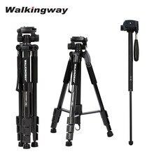 Walkingway-trípode portátil Q222 para cámara, soporte de aluminio para viajes, receptáculo de trípode para fotografía, vídeo, cámara Digital SLR DSLR