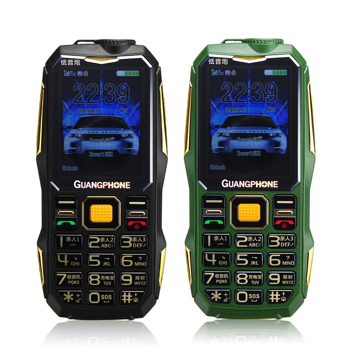 GUANGPONE 2.6'' Old Man Mobile Phone 16800mah 3G SOS Button Flashlight Torch Dual SIM Card Big Speaker Long Stand-by For Elderly