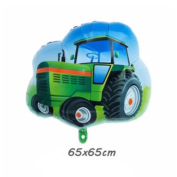 new Large car Transportation balloons Farm tractor fire truck police balloon bulldozer party decorations birthday boy globos image