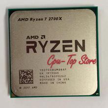 Processador amd ryzen 7 2700x r7 2700x, cpu de oito núcleos, processador l2 = 4m l3 = 16m 105w & nbsp; am4 soquete
