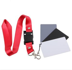 Image 5 - Camera Accessory Big Size(17*12cm) Digital White Black Grey Balance Cards 18% Gray Card with Neck Strap for Digital Photography