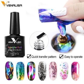 Venalisa Foil Transfer Gel Easy Apply Nail Art Design Manicure Enamel Gel Polish UV LED Gel Nail Polish Lacquer Varnish Foil 1