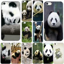 Cute Chinese Pandas Soft Phone Cases for iPhone X XR XS 11 Pro Max 4 4S 5 5S 5C SE for iPhone 6 6s 7 8 Plus Bags(China)