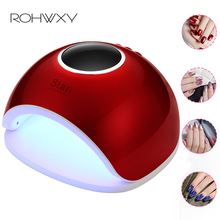 ROHWXY 66 Вт лампа для гель-лака УФ светодиодный гель-Сушилка для ногтей для маникюра сушка для гель-краски светодиодный светильник для DIY Инструменты для гель-лака
