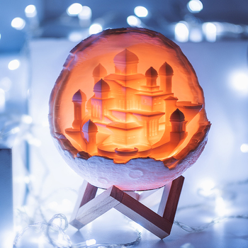 2019 Nieuwe Komen Maan Stad Lamp kinderen Creative Gift-in LED Nacht Verlichting van Licht & verlichting op