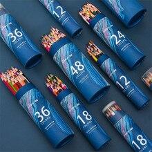 Color-Pencil Lapis-De-Cor School-Supplies Soft-Core Professional Premium for Art 12/24/36/48