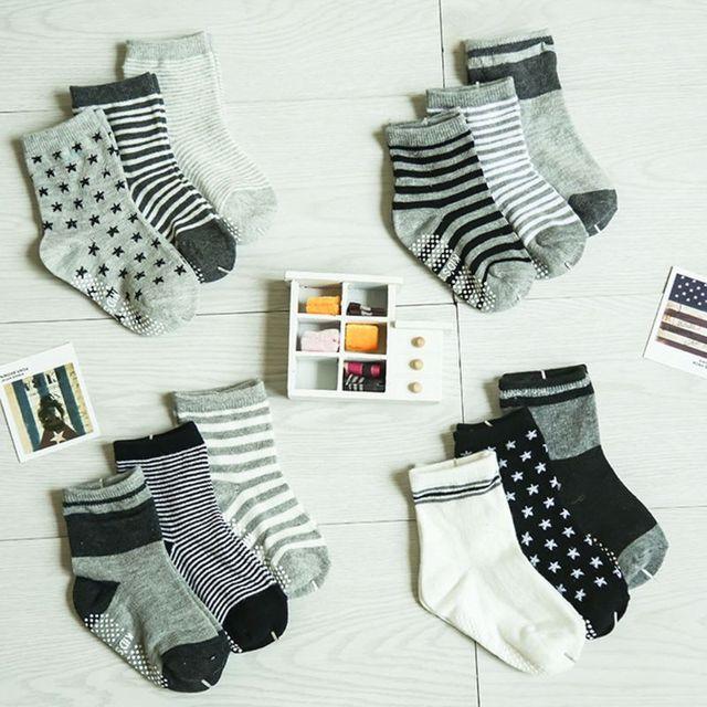 12 Pairs Baby Toddler Kid Sock Boy Girl Non Skid Anti Slip Knit Ankle Grip Sock 2