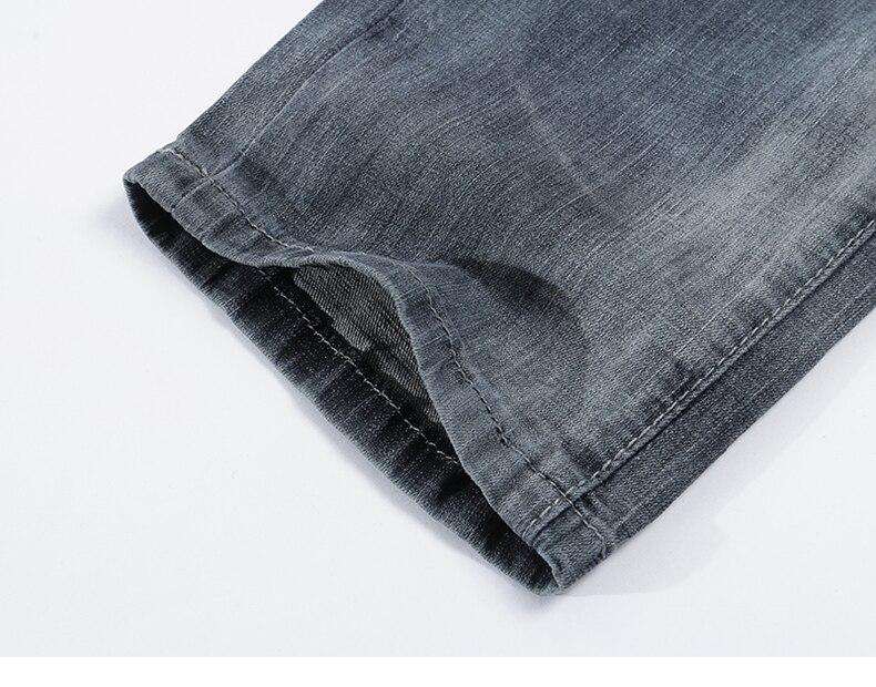 KSTUN mens jeans slim fit retro gray denim pants man 2020 summer thin grey vintage casual pants jeans male long trousers cowboys 18