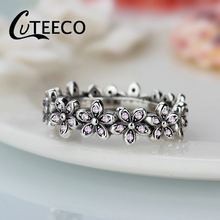 Cuteeco New Arrival Dazzling Daisy Genuine compatible Silver Ring Fit Brand  jewelry Women Wedding Accessories brand new brand new daisy cd