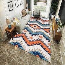 Alfombras de Estilo Vintage Morrocan para el hogar sala de estar área nórdica geométrica alfombra debajo de la silla alfombras absorbentes antideslizantes