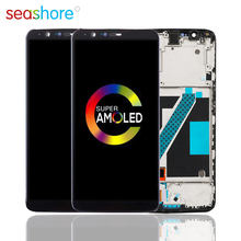 100%ORIGINAL For OnePlus 5T LCD Touch Screen Digitizer Assembly For Oneplus 5T Display with Frame Replacement 1+5T Screen A5010