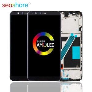 Image 1 - 100% oryginalny dla OnePlus 5T LCD montaż digitizera ekranu dotykowego dla Oneplus 5T wyświetlacz z ramką wymiana 1 + 5T ekran A5010