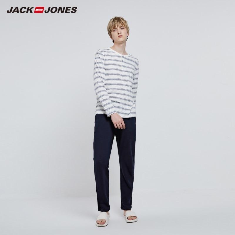 JackJones Men's Cotton Basic Homewear Soft Warm Set Pajama Set 2193HG503