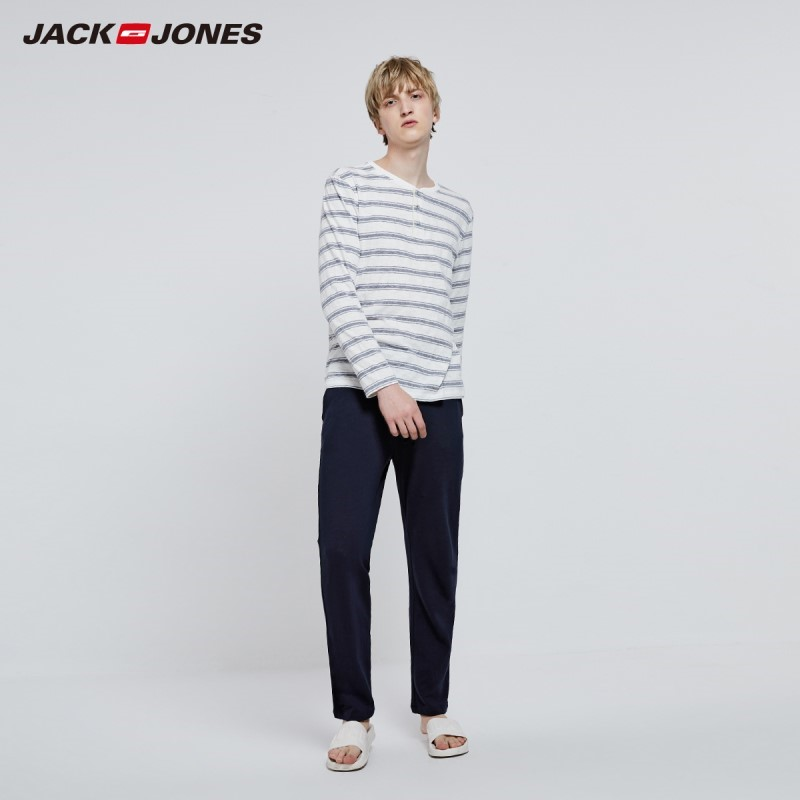 JackJones Men's Winter Cotton Basic Homewear Soft Warm Set Pajama Set 2193HG503