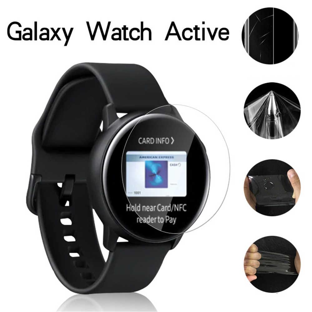 5 Pcs Film Anti Gores untuk Samsung Galaxy Menonton Aktif TPU Penuh Cakupan Ultra Tipis Pelindung Layar kaca Tempered