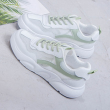 High Quality White Shoes Women Sneakers Latest Air Mesh Lace-up Woman Shoes Fashion Platform Loafers Low-cut Ladies Casual Shoes europe women shoes flats platform shoes woman mesh striped fashion sneakers casual lace up breathable low cut plus size 35 40