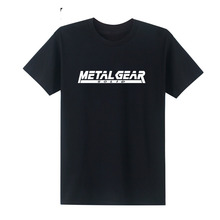 2019 Game Metal Gear T Shirt V 5 MGS Solid T-Shirts Men Cotton Short Sleeve Shirts Casual O Neck Top Tees Homme Camisetas