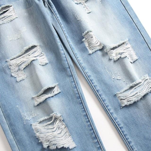 Men's Casual Jeans Men's Casual Denim Straight Jeans Multi-button Trousers Men's Ripped Fashion Jeans Jeans Para Hombre 4