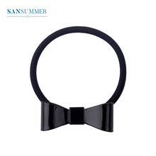 Sansummer 2019 New Hot Fashion Black Big Bow Simple Personality Girl Head rope Vintage Style Casual Hair Strap For Women Jewelry