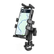 אופנוע אופניים כידון אחיזת אצבע הר מחזיק Stand עבור טלפונים סלולריים, GPS, רדיו ווקי טוקי