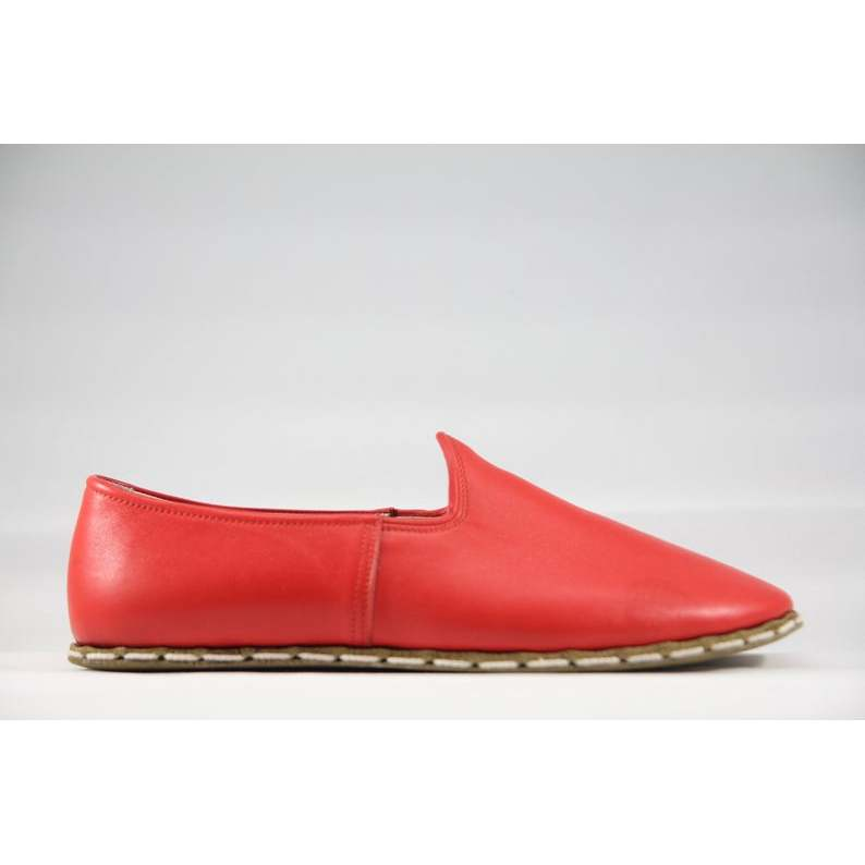 Sabah Women Ahm'ed Red Handmade Traditional English Slip-On Leather--Womens Shoes Wedding Shoes 34 to 45 Size EU Size