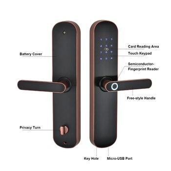 Elektronische Biometrische Vingerafdruk Wifi Smart Deurslot  4